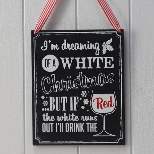 Ginger Ray I'm dreaming of a white Christmas - houten krijtbord