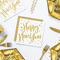 PartyDeco Servetten Happy New Year  | 20 stuks