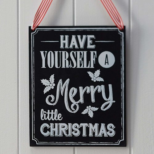 Ginger Ray Have yourself a Merry little Christmas - houten krijtbord