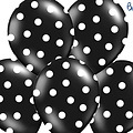 Ballonnendeal Ballonnen stippen zwart/wit