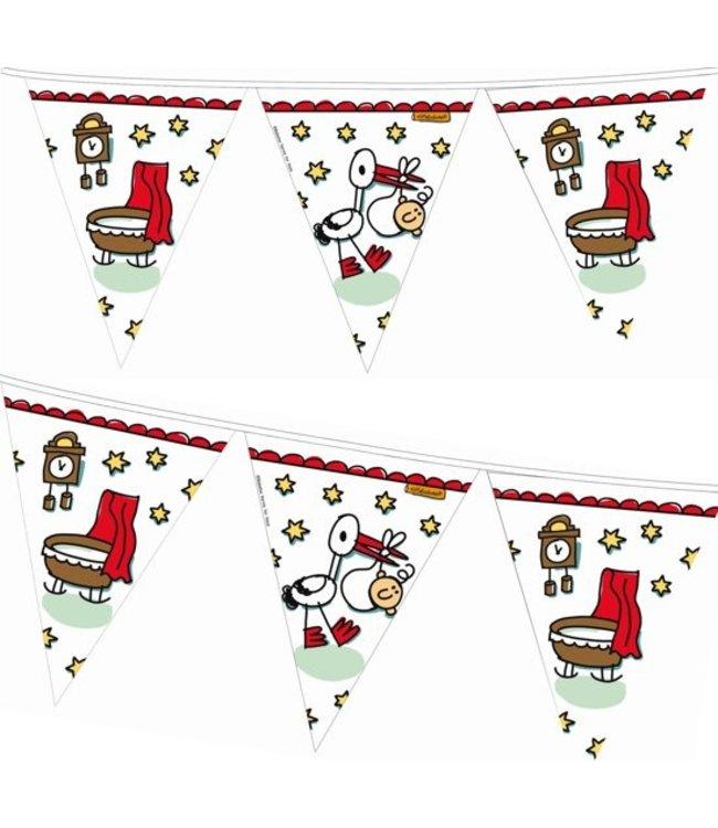 Haza Geboorte - Babyshower vlaggenlijn Babbette