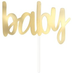 Baby taarttopper goud
