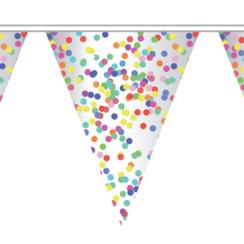 Vlaggenlijn confetti - 10 meter