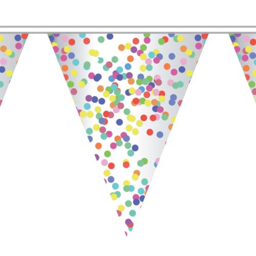 Haza Vlaggenlijn confetti - 10 meter