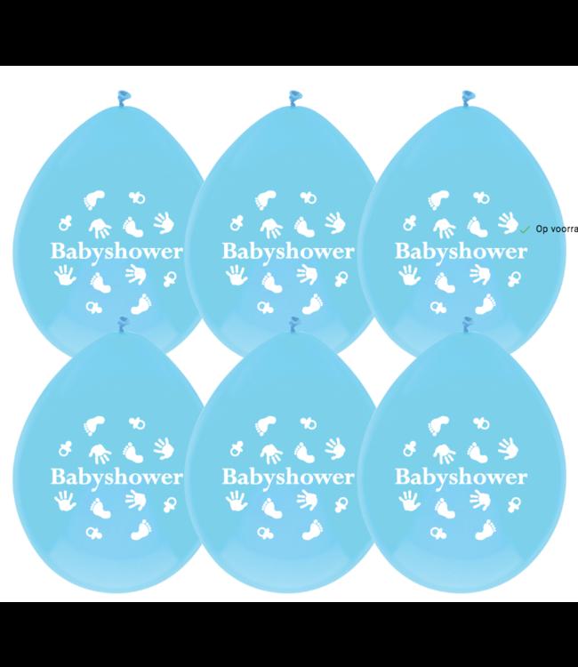 Haza Ballonnen babyshower blauw - 6 stuks