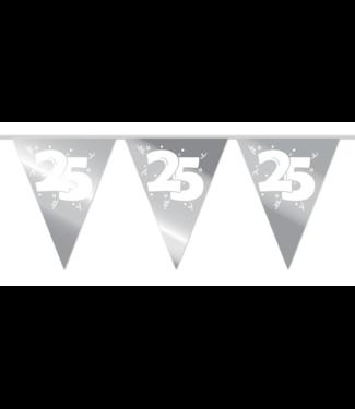 Haza Vlaggenlijn 25 zilver - 10 meter