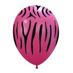Ballonnen Zebra Roze - 10 stuks