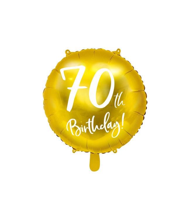 PartyDeco Folieballon 70th birthday | 70 jaar