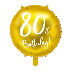 Folieballon 80th birthday | 80 jaar