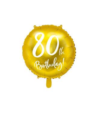 PartyDeco Folieballon 80th birthday   80 jaar