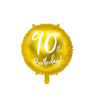 PartyDeco Folieballon 90th birthday | 90 jaar