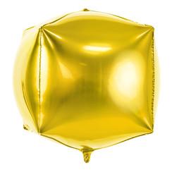 Kubusballon folie | Goud | 35 cm