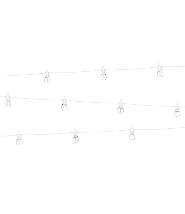 PartyDeco LED lichtsnoer bolletjes wit - 8 meter