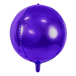 Folieballon bal paars - 40 cm