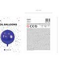 PartyDeco Folieballon bal paars - 40 cm