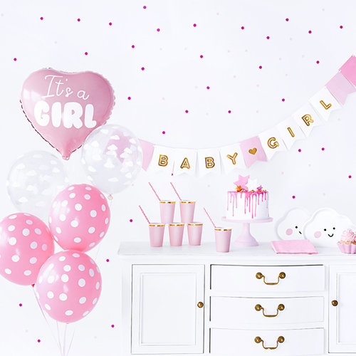 PartyDeco Babyshower pakket - It's a girl - meisje