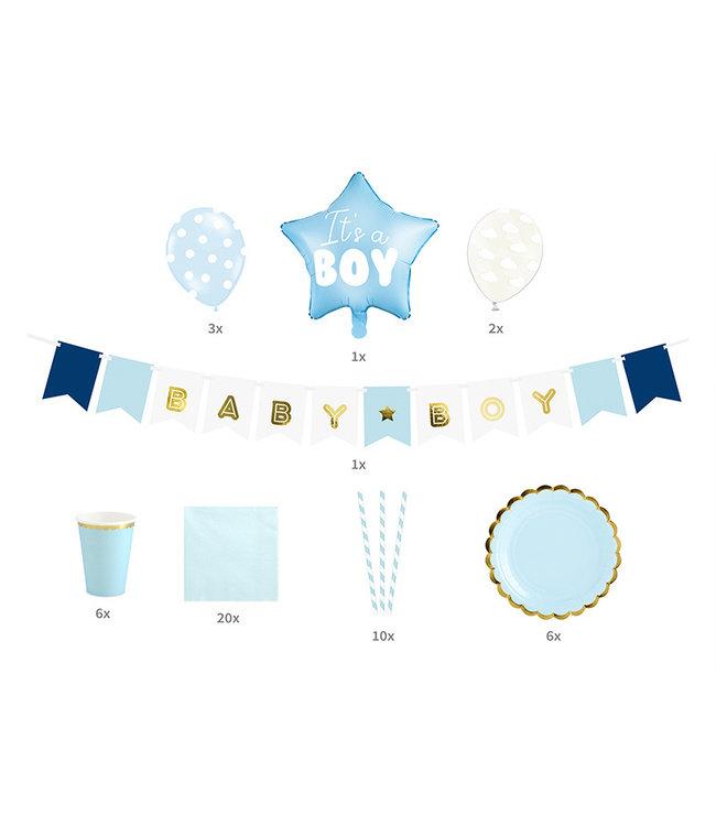 PartyDeco Babyshower/geboorte pakket - It's a boy