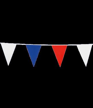 Globos Vlaggenlijn rood-wit-blauw - 10 meter