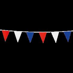 Mini vlaggenlijn rood-wit-blauw - 3 meter
