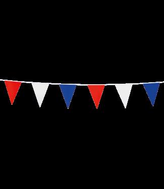 Globos Mini vlaggenlijn rood-wit-blauw - 3 meter