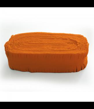 Globos Crepe garland oranje - 24 meter - brandvertragend