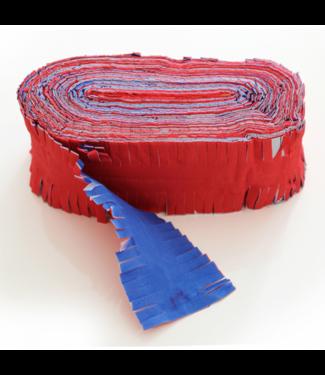 Globos Crepe garland rood-wit-blauw - 24 meter - brandvertragend
