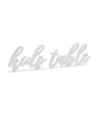 PartyDeco Kids table - Houten decoratie - wit