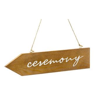 PartyDeco Houten wegwijzer pijl  - Ceremony