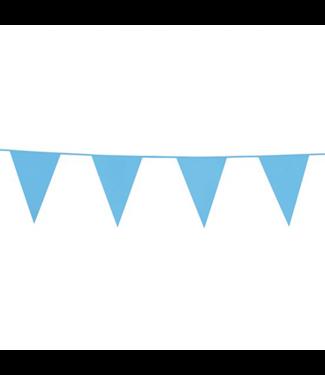Globos Vlaggenlijn lichtblauw - 10 meter