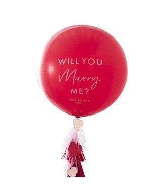 Ginger Ray Will you marry me? - reuzeballon aanzoek kit