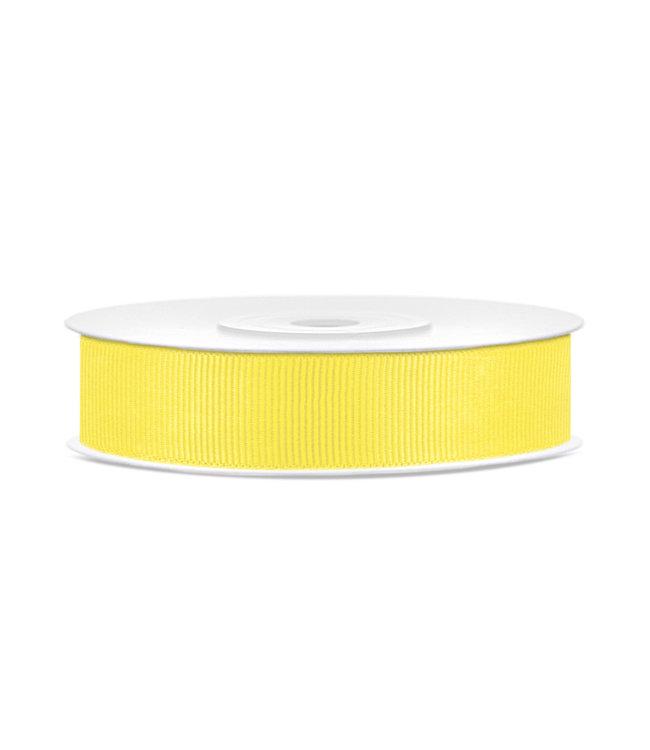 PartyDeco Ribbel lint geel 15mm breed- 25m lang