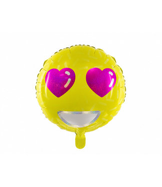 PartyDeco Folieballon Emoji - Love - 45 cm