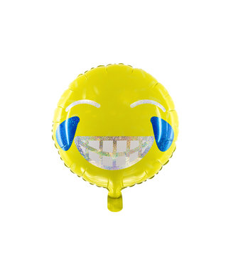 PartyDeco Folieballon Emoji - Smile - 45 cm