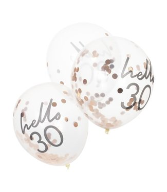 Ginger Ray 5 Confettiballonnen 30 jaar | Hello 30