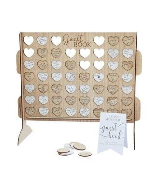 Ginger Ray Gastenboek houten hart frame game