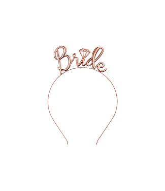 PartyDeco Bride haarband rose goud