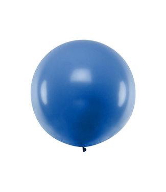 PartyDeco Reuzeballon  Blauw  100 centimeter