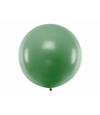 PartyDeco Reuzeballon  donker groen 100 centimeter