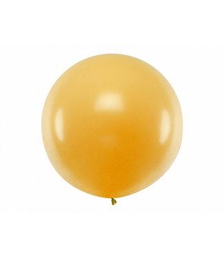 PartyDeco Reuzeballon  metallic goud 100 cm xl
