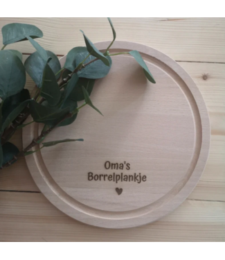 Feestdeco Borrelplank - Oma's borrelplankje
