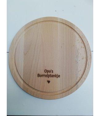 Feestdeco Borrelplank - Opa's borrelplankje