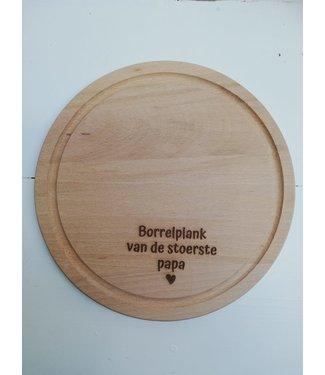 Feestdeco Borrelplank - Borrelplank van de stoerste papa
