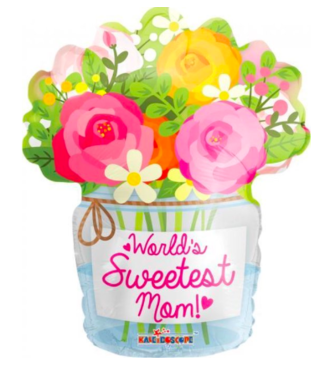 Globos Folieballon - World's Sweetest Mom - 45 cm