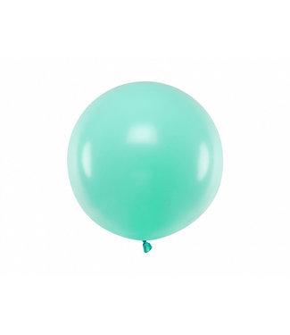 PartyDeco Reuzeballon | pastel mint | 60 centimeter