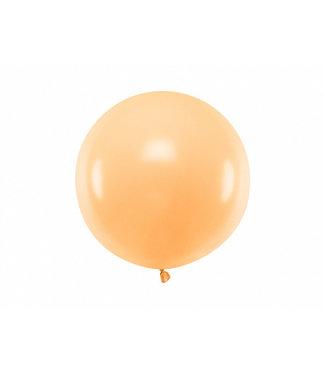 PartyDeco Reuzeballon | pastel perzik | 60 centimeter