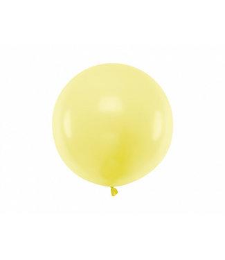 PartyDeco Reuzeballon | pastel geel | 60 centimeter