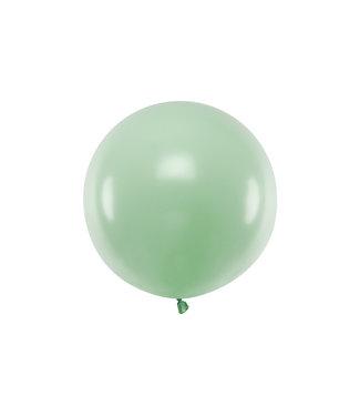 PartyDeco Reuzeballon | pastel pistache | 60 centimeter