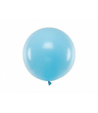 PartyDeco Reuzeballon | pastel lichtblauw | 60 centimeter