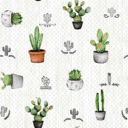 Gecoat Tafellinnen Cactus