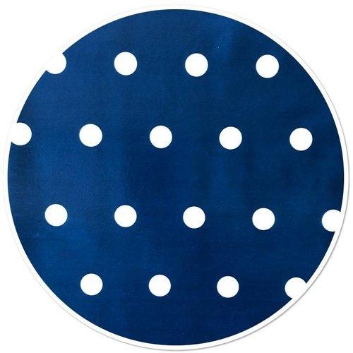 Tafelzeil Rond Stip Blauw 160CM